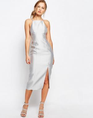 Keepsake Платье-футляр Billboard. Цвет: серый