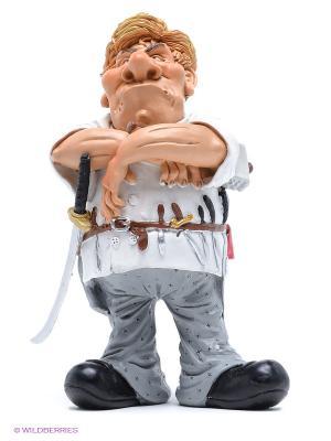 Фигурка Кухонный самурай The Comical World of Stratford. Цвет: светло-серый, кремовый, белый, черный, светло-коричневый