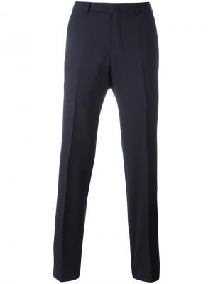 Классические брюки Ermenegildo Zegna. Цвет: синий