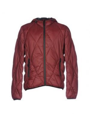 Куртка CENSURED. Цвет: красно-коричневый