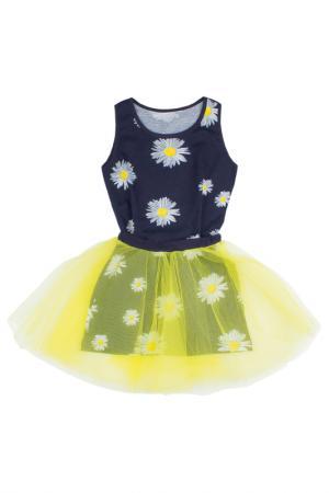 Платьице с пышной юбкой по верху Апрель. Цвет: желтый