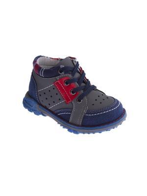 Туфли PlayToday. Цвет: серый, синий