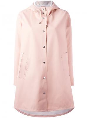 Пальто Moseback Stutterheim. Цвет: розовый и фиолетовый