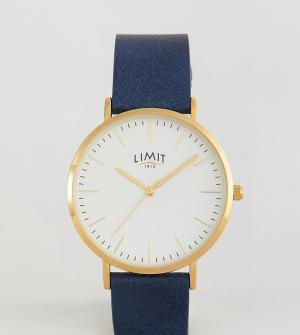 Limit Часы с темно-синим кожаным ремешком эксклюзивно для ASOS. Цвет: темно-синий