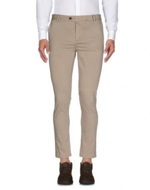 Повседневные брюки DAVID NAMAN. Цвет: песочный