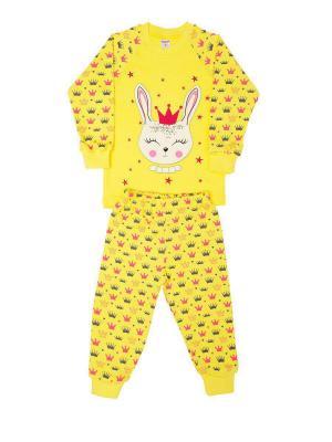 Пижама: джемпер, брюки Sladikmladik. Цвет: желтый