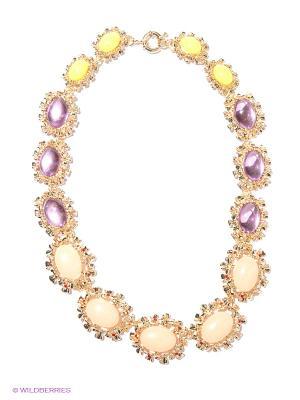 Колье Milana Style. Цвет: желтый, фиолетовый, золотистый