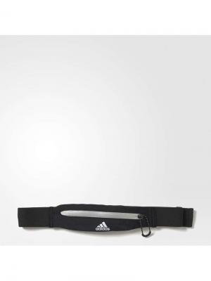 Сумка поясная RUN BELT BLACK/REFSIL/WHITE Adidas. Цвет: черный