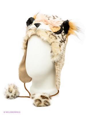 Шапка True Fur. Цвет: бежевый