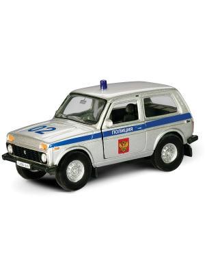 Машина LADA 4x4 полиция AUTOTIME. Цвет: серебристый