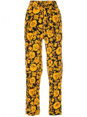 Спортивные брюки с цветочным принтом Kenzo. Цвет: жёлтый и оранжевый