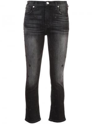 Расклешенные укороченные джинсы с завышенной талией Hudson. Цвет: чёрный