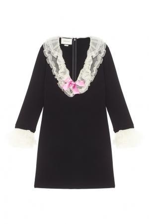 Платье с V-образным вырезом Gucci. Цвет: none