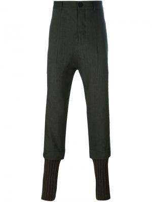 Зауженные брюки Isabel Benenato. Цвет: коричневый