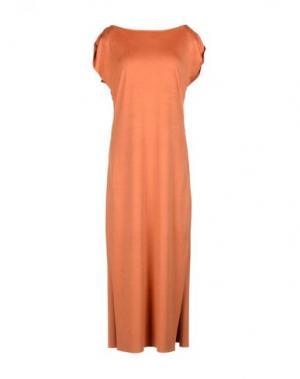 Платье длиной 3/4 MARIAGRAZIA PANIZZI. Цвет: ржаво-коричневый