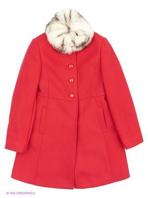 Пальто КАЛIНКА. Цвет: красный