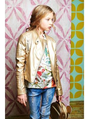 Куртка Глянец I love to dream. Цвет: золотистый