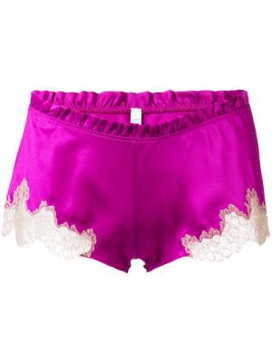 Боксеры Flottant Carine Gilson. Цвет: розовый и фиолетовый