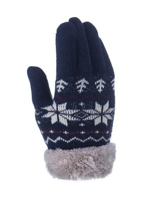 Перчатки детские Cascatto. Цвет: синий