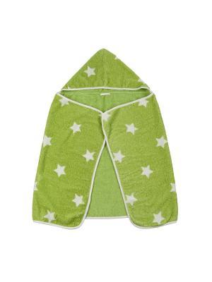 Полотенце с капюшоном Happy Baby Fluffy. Цвет: зеленый