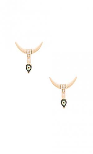 Ушной манжет в форме полумесяца Melanie Auld. Цвет: металлический золотой