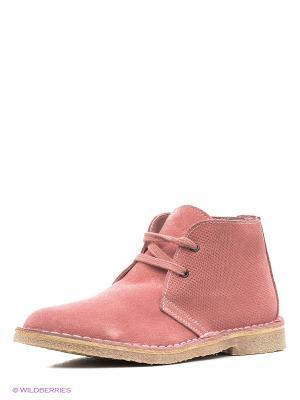 Ботинки United Colors of Benetton. Цвет: бледно-розовый