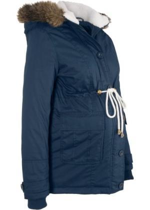 Зимняя куртка для беременных (темно-синий) bonprix. Цвет: темно-синий