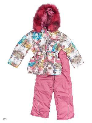 Зимний Комплект для девочки Алмазы Пралеска. Цвет: розовый