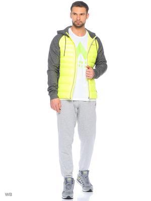 Куртка DAILY DOWN JACKET Adidas. Цвет: желтый, серый
