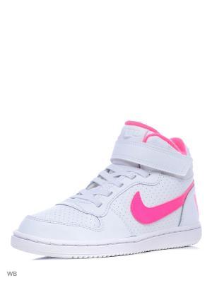 Кеды NIKE COURT BOROUGH MID (PSV). Цвет: белый, розовый