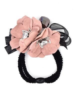 Резинка для волос Only Happy. Цвет: розовый,черный