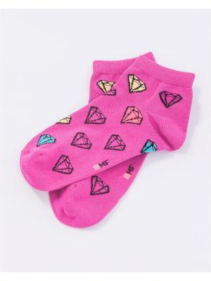 Носки женские Mark Formelle. Цвет: розовый, светло-желтый
