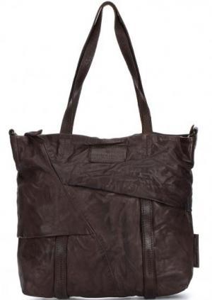 Кожаная сумка со съемным плечевым ремнем aunts & uncles. Цвет: коричневый