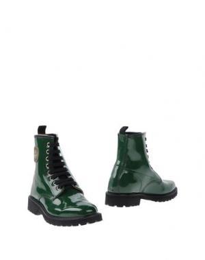 Полусапоги и высокие ботинки MÈNGHI. Цвет: зеленый