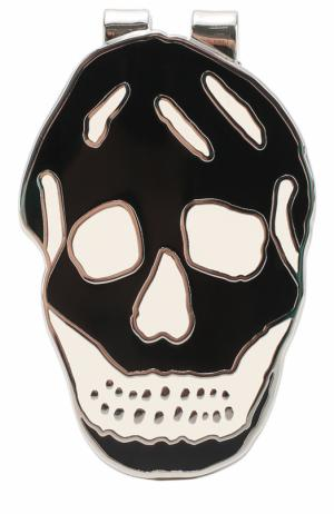 Зажим для денег в виде черепа Alexander McQueen. Цвет: черно-белый