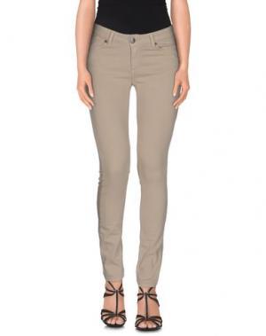 Джинсовые брюки U.S.A. JEANS SPORT. Цвет: бежевый
