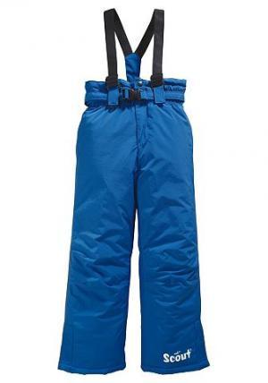Лыжные брюки, SCOUT. Цвет: ярко-синий