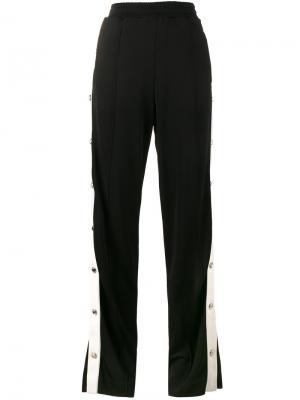 Спортивные брюки с кнопками кристаллами Alessandra Rich. Цвет: чёрный
