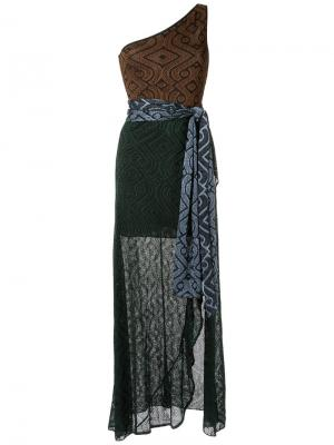 Knit long dress Cecilia Prado. Цвет: коричневый