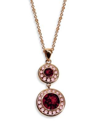 Кулон с цепочкой Isabelle бордовыми кристаллами Swarovski Mademoiselle Jolie Paris. Цвет: бордовый, золотистый