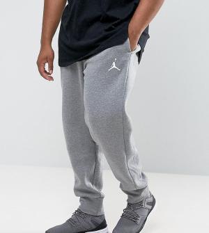 Jordan Серые флисовые джоггеры Nike PLUS 823071-091. Цвет: серый