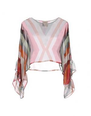Блузка PINK MEMORIES. Цвет: светло-розовый