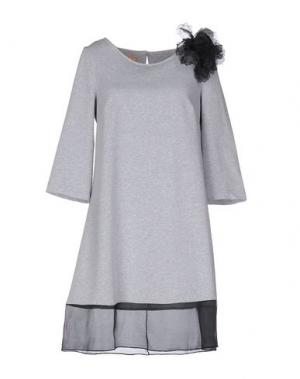 Короткое платье MACRÍ. Цвет: серый