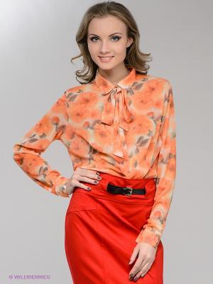 Блузка SUGARLIFE. Цвет: оранжевый, хаки