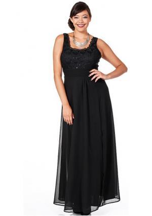 Платье sheego. Цвет: изумрудный, черный