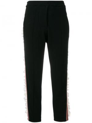 Укороченные брюки в полоску Laneus. Цвет: чёрный