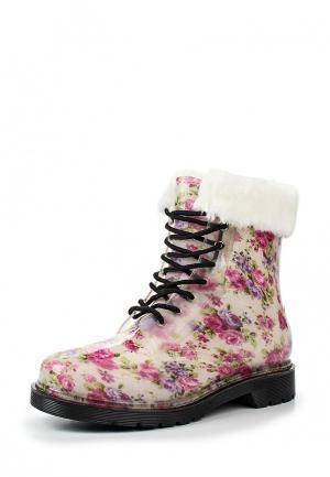 Резиновые ботинки Mon Ami. Цвет: бежевый