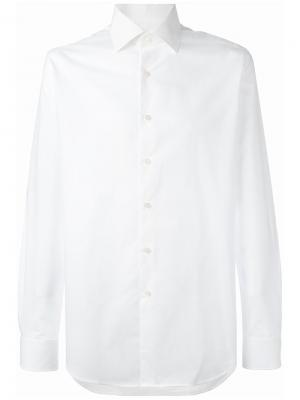 Рубашка на пуговицах Xacus. Цвет: белый
