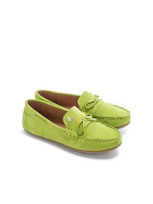 Мокасины Mayoral. Цвет: зеленый