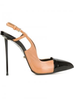 Туфли на шпильках с ремешком пятке Marco Proietti Design. Цвет: телесный